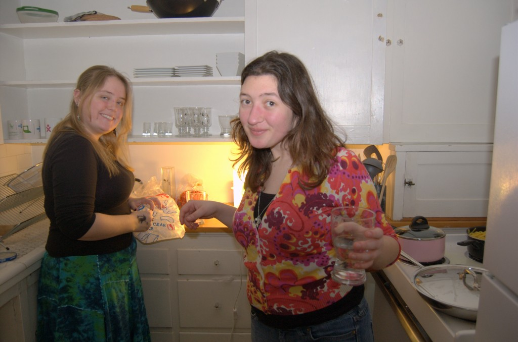 Ellen and Jen on kitchen duty.