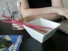 I use the pink chopsticks!